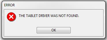 wacom tablet driver not found